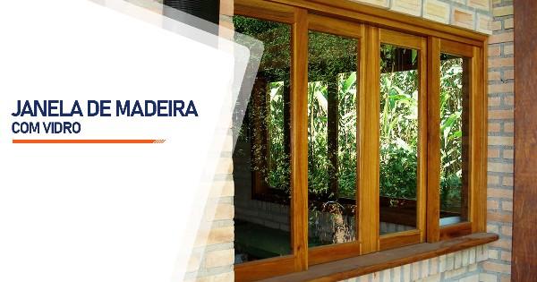 Janela De Madeira Com Vidro São José do Rio Preto