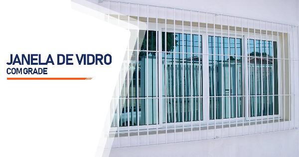 Janela De Vidro Com Grade São José do Rio Preto