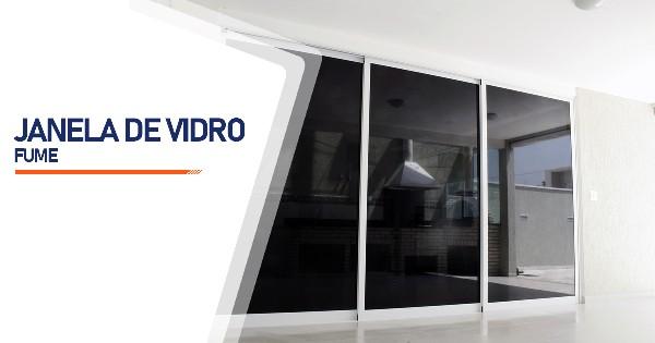 Janela De Vidro Temperado Fume São José do Rio Preto
